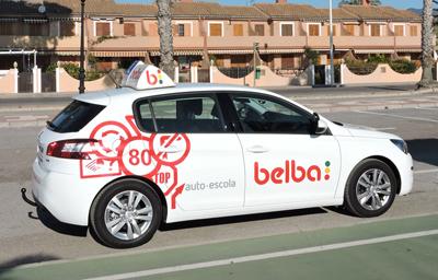 Coche de Autoescuelas Belba para sacarse el carnet de conducir en Castellón